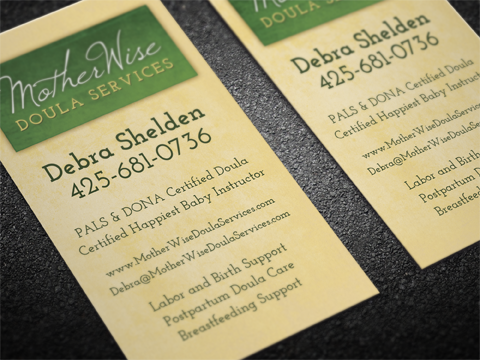 Motherwise Doula Care Business Cards Bloom Business Solutions