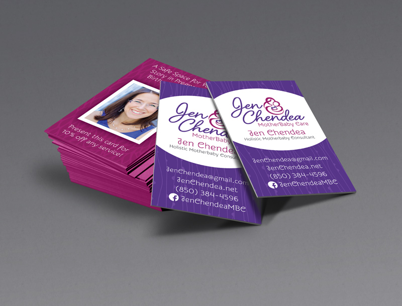 Jen Chendea Business Cards - Bloom Business Solutions
