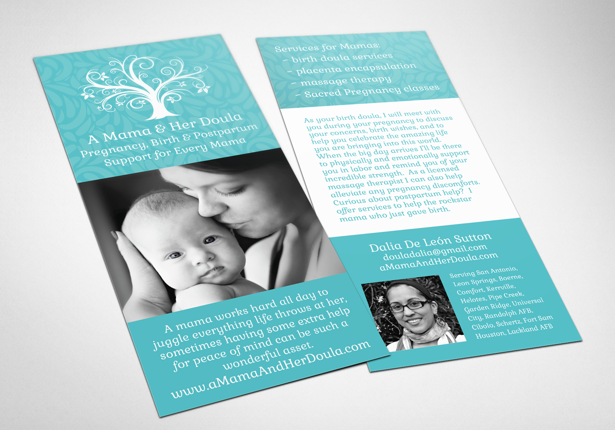 birth doula rackcard design