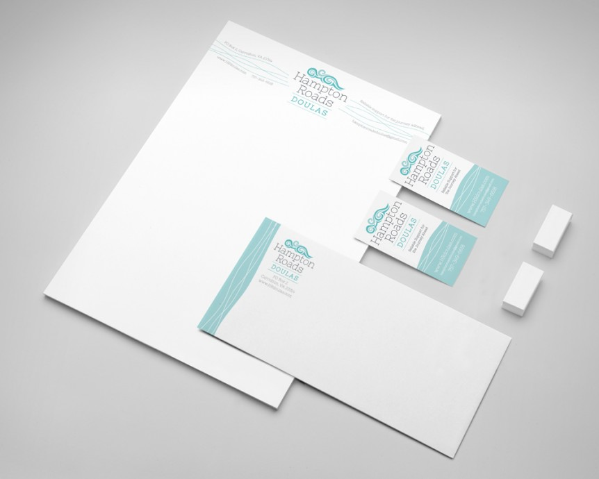 doula agency letterhead and envelope design