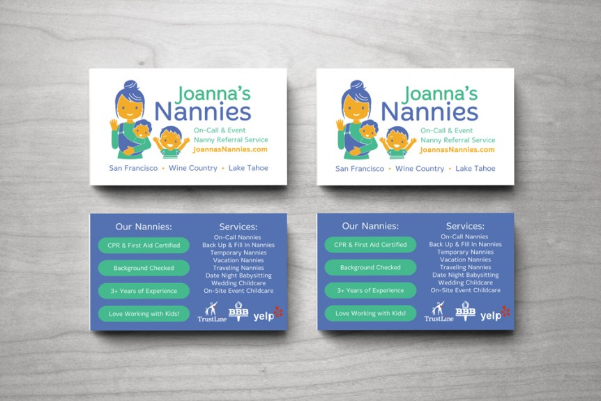 nanny business card design