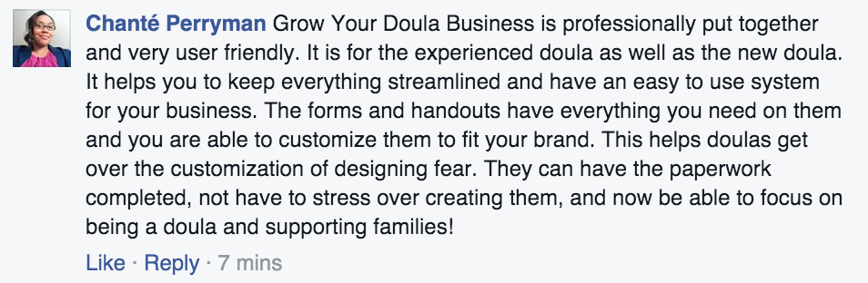 doula business marketing