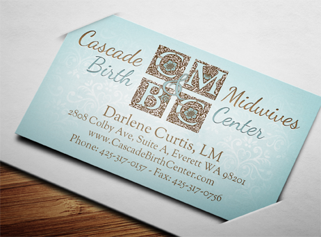 midwife birth center business card design