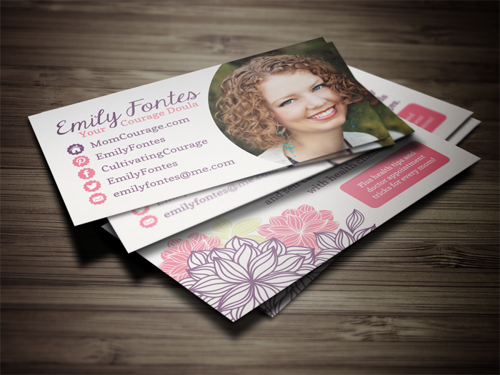 blogger business card design