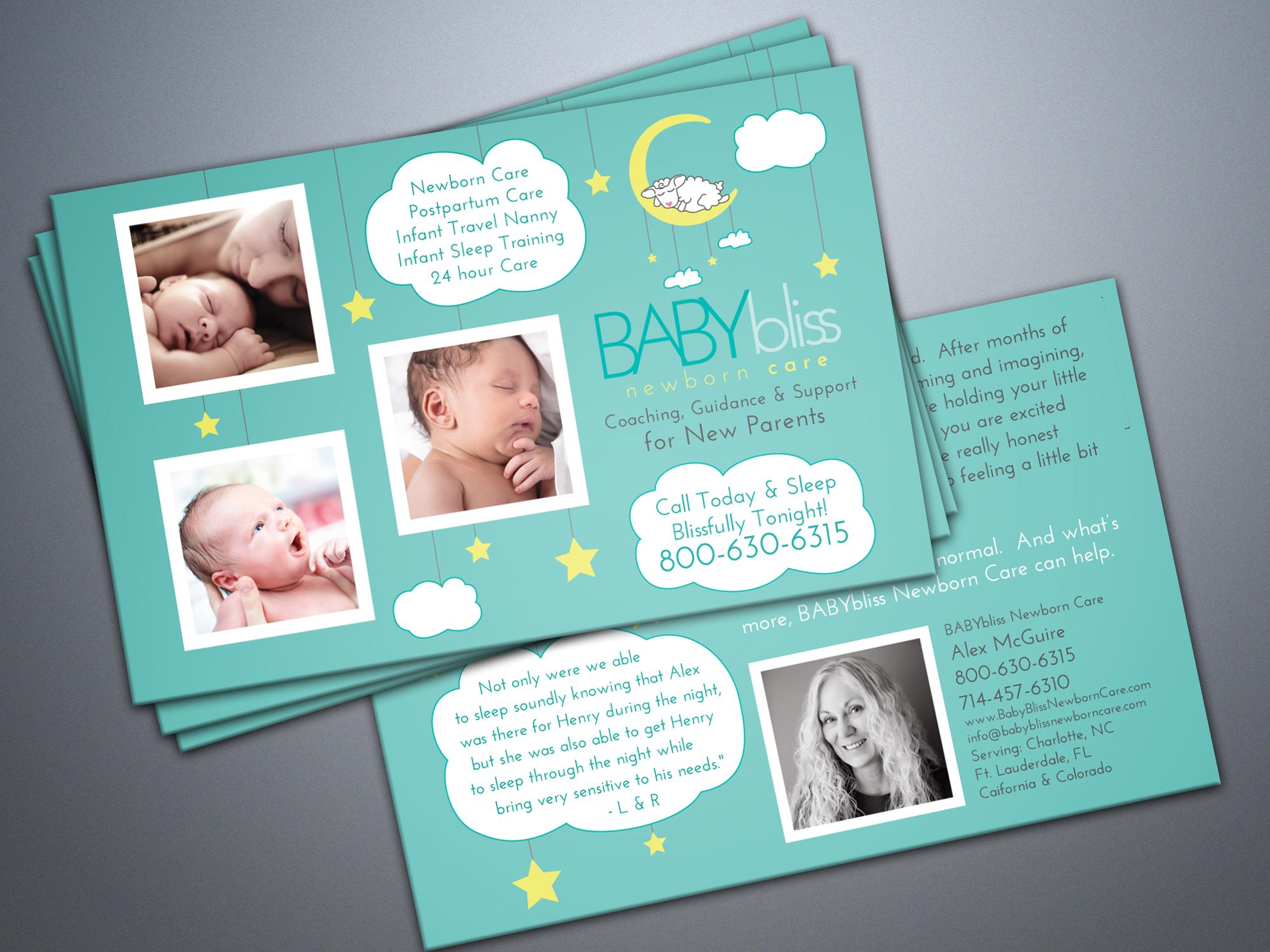 postpartum doula postcard design