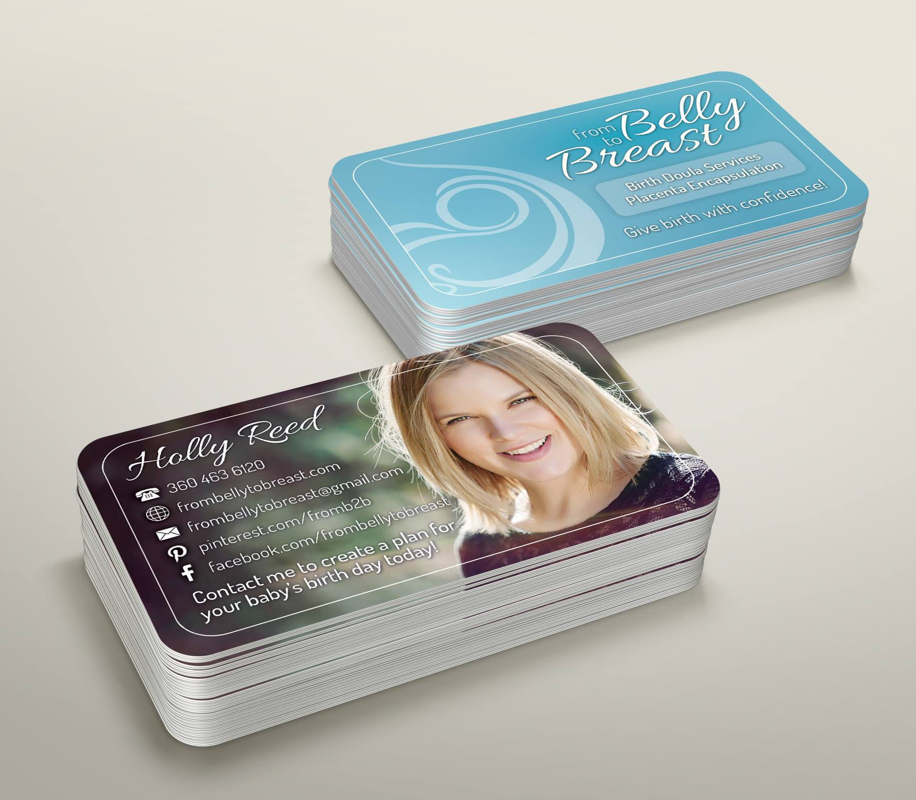 doula business card design