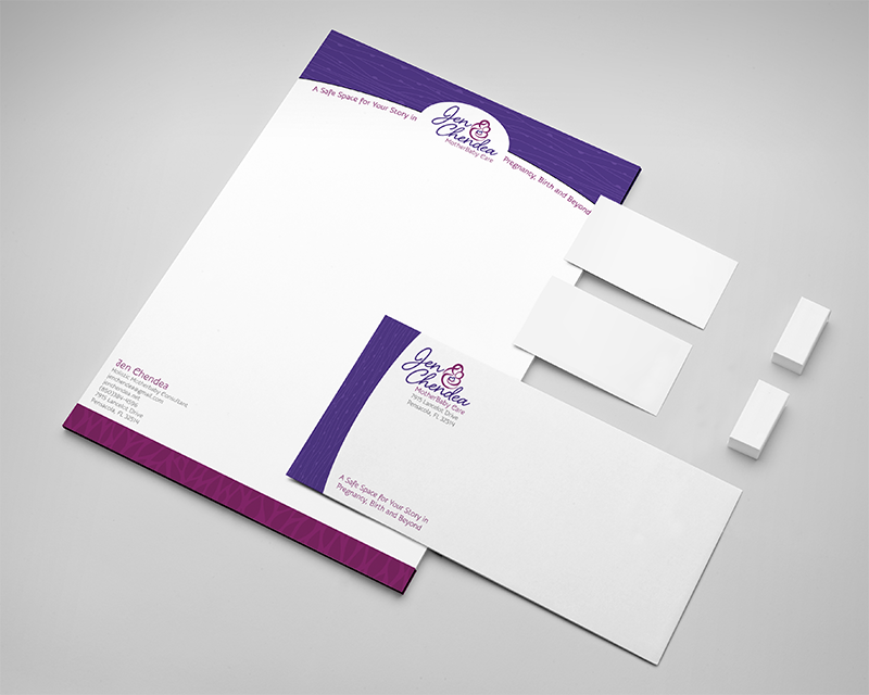 lactation consultant letterhead and envelope design