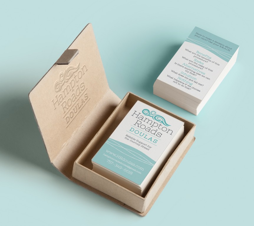 doula agency business card design